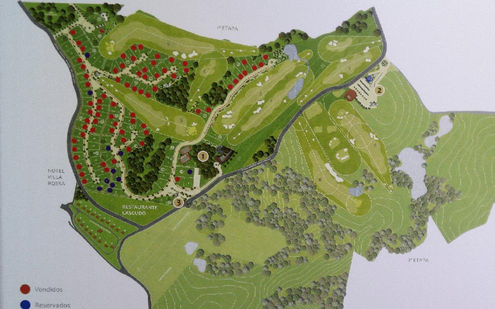 Mapa de terrenos vendidos - Vila da Mata