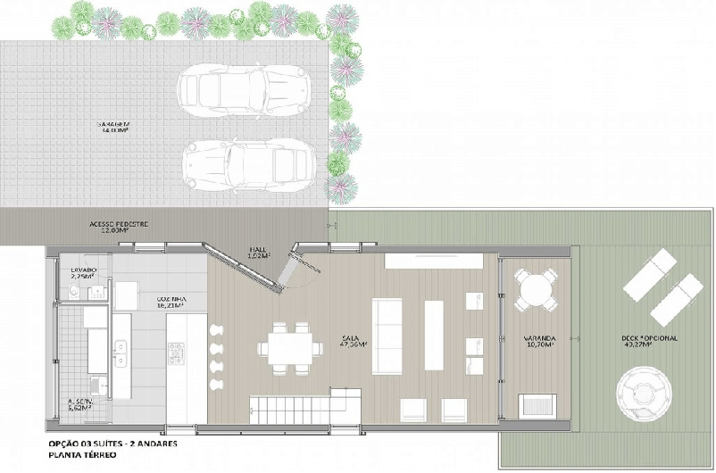 Planta Chalé Design 3 T